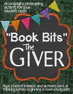 U0026quotbook Bitsu0026quot A Fun Pre Reading Activity For The Giver