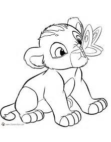 Baby Lion King Coloring Pages
