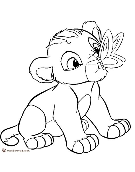lion king coloring pages disneyclipscom