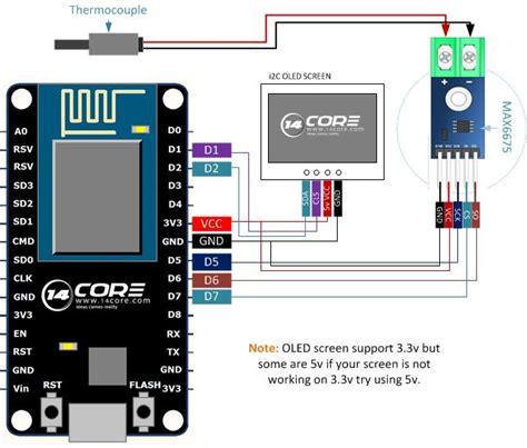 wiring thermocouple max  esp  nodemcu