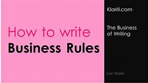 Order Template Excel Business Rules V The Rules Of Business