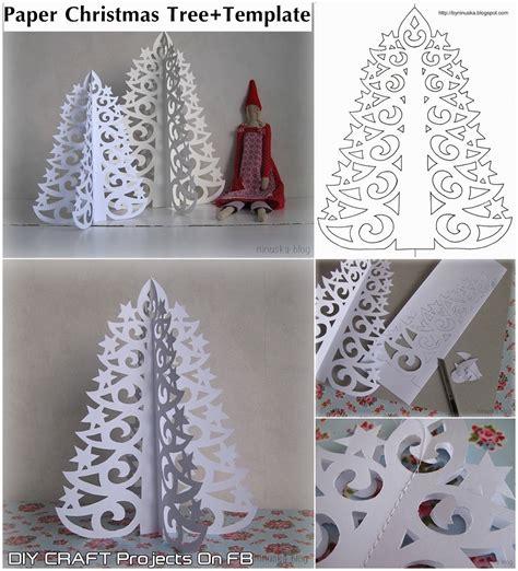 diy paper christmas tree  printable template diy