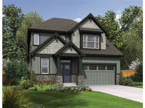 Craftsman House Floor Plans Narrow Lot Craftsman House