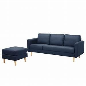 Sofa 3 Sitzer Mit Hocker : sofa wyke iv 3 sitzer mit hocker flachgewebe dunkelblau dunkelblau morteens ~ Bigdaddyawards.com Haus und Dekorationen