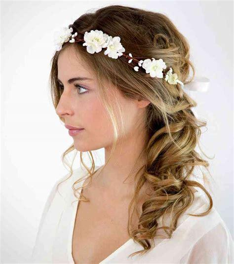 coiffure mariage fille cheveux mi chignon fille pour mariage