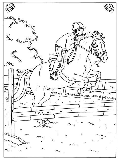 Paardrijden Kleurplaat by 20 Idee Paarden Kleurplaten Springen Win Charles