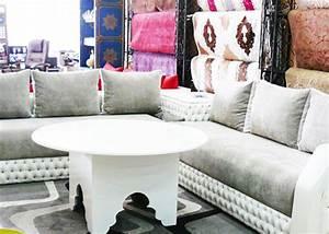 Salon Marocain Blanc : salon marocain vente salon oriental sur mesure pas cher ~ Nature-et-papiers.com Idées de Décoration