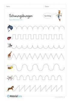 schreiben grundschule schreibuebungen arbeitsblaetter