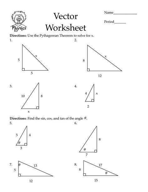 pythagorean theorem worksheets cos worksheet pdf math pythagorean