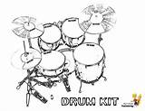 Drum Coloring Drums Kit Printable Pages Printables Musical Yescoloring Boys Kits Pounding Percussion sketch template