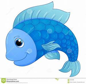 Cute blue fish stock vector. Image of mascot, beautiful ...