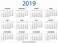 2019 Calendars Download PDF Templates