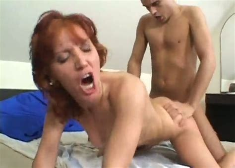 Mature Red Haired Whore Gets Her Hairy Pussy Fucked