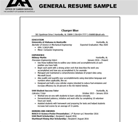 General Resume Format by 10 General Resume Templates Pdf Doc Free Premium