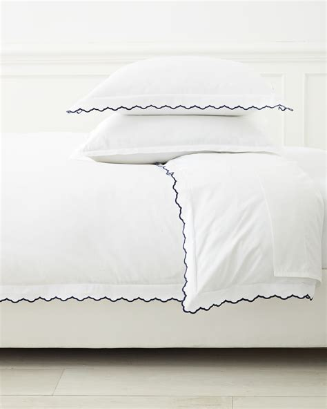 navy and white rugs scallop embroidered duvet cover serena