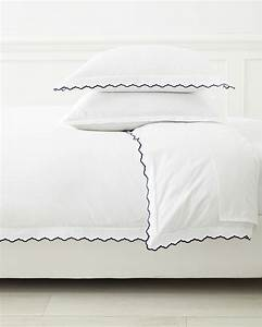 Scallop Embroidered Duvet Cover - Serena & Lily