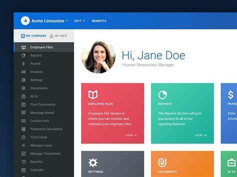 employee portal redesign wip  derrick alston  dribbble