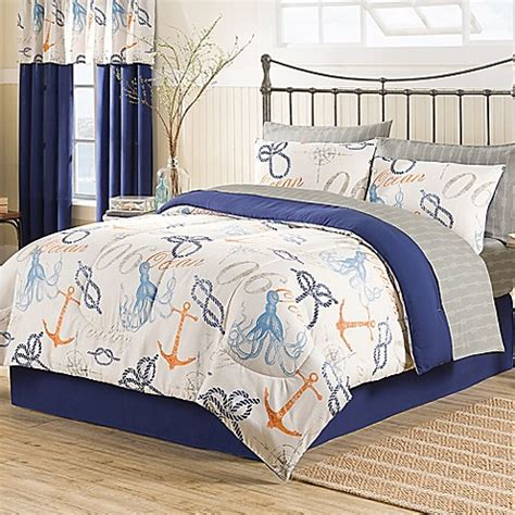 buy nautical 8 piece queen comforter set from bed bath