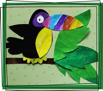 toucan craftivity template  keeping life creative tpt