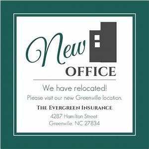modern everygreen business moving announcement business With business moving postcards announcement