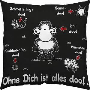 Ohne Dich Ist Alles Doof : baumwollkissen ohne dich ist alles doof schwarz bei ~ Watch28wear.com Haus und Dekorationen