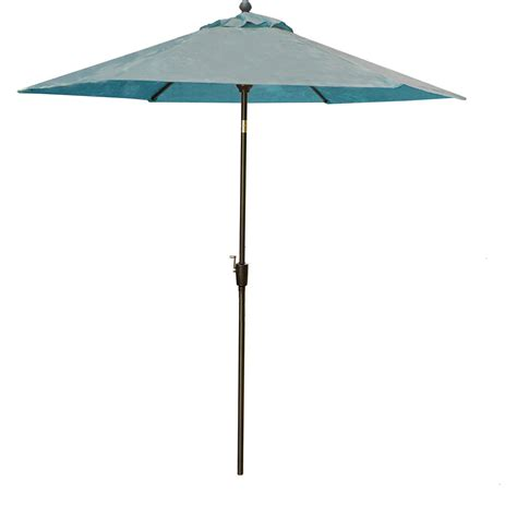 table umbrella in blue for the traditions dining