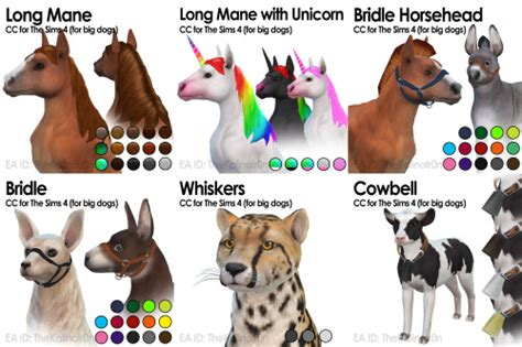 Dog Rainbow Collars For The Sims 4 The Sims 4 Downloads Cc
