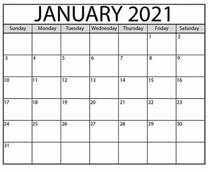 Calendar 2021 January Printable Pdf