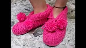 Crochet En S : babuchas para adulto en crochet viyoutube ~ Nature-et-papiers.com Idées de Décoration