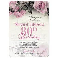 quinceanera invitation wording 80th birthday invitation vintage pink grey
