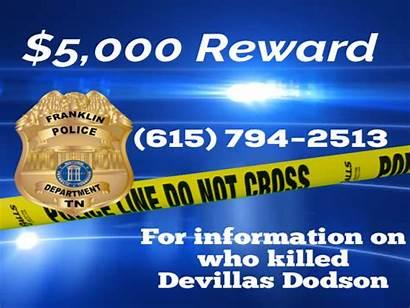Homicide Franklin Reward Dodson Detectives Investigation Remains