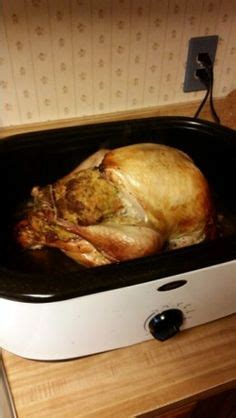 perfect turkey in an electric roaster oven thanksgiving on electric roaster chicken and dressing casserole and green bean
