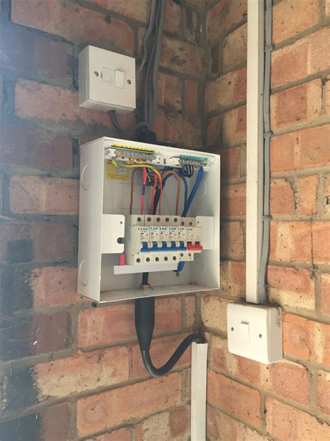 updating  garage  shed consumer unit case young