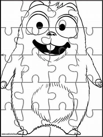 Lemmings Grizzy Coloring Printable Jigsaw Coloriage Dessins