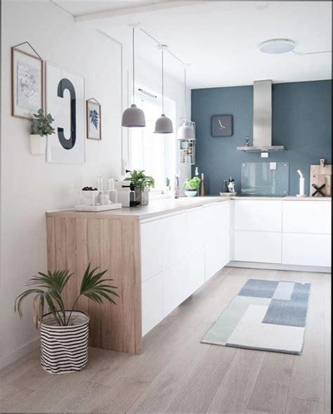 cuisine et blanc photos cool cuisine blanc bleu et bois with cuisine