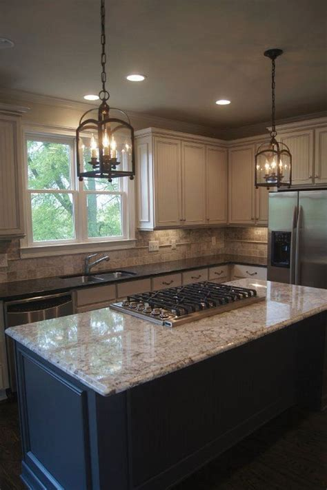 gorgeous light cabinets dark countertops design ideas