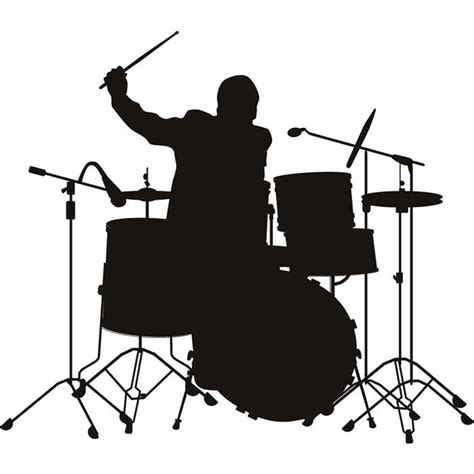 drum stencil template silhouette musical art gallery google search projects