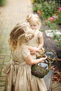 flower girls looked darling  gold gowns  hair
