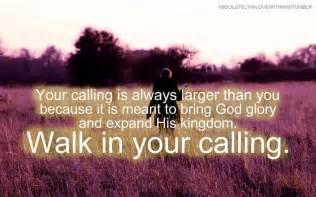 Walk in Your Calling