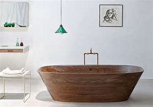 35 salles de bains design elle decoration With salle de bain design avec meubles décorés main