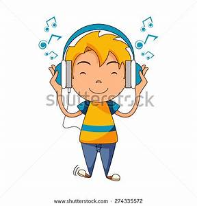 Kid Listening to Music Clipart (60+)