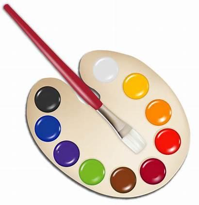Paint Brush Palette Clipart Yopriceville Previous Transparent