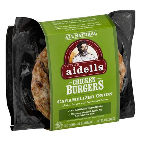 aidells caramelized onion chicken burgers hy vee aisles