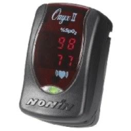 Nonin 9550 ONYX II digital finger pulse meter , Pure O2