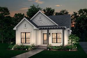 Cottage, Style, House, Plan, Ft, Plan