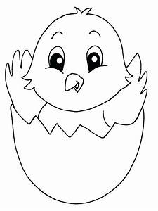 Coloring Baby Chick Coloring Pages