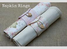 DIY Tutorial Fabric Napkin Rings Boho Weddings For the