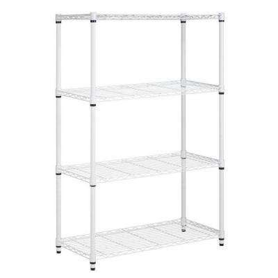 White Metal Storage Shelves by White Metal Garage Shelving Units Garage Shelves