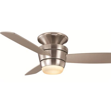 lowes ceiling fans with lights and remote shop harbor breeze mazon 44 in brushed nickel flush mount