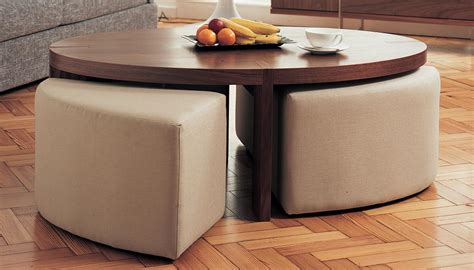 Ottoman With Stools Underneath by Coffee Table With Ottoman Seating Underneath Coffee
